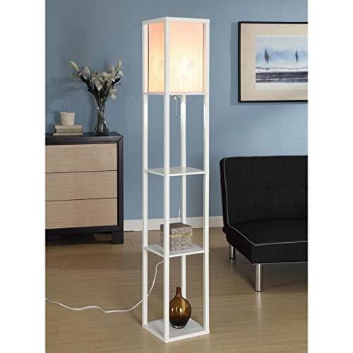 JUNYYANG Led Creative Simple Modern Chinese Living Room Floor Lamp, Bedroom Bedside Lamp Sofa Lamp Eye-Caring Vertical Floor Light
