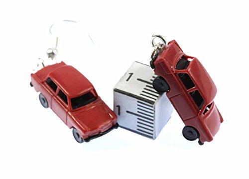 Pendientes coche Trabi Trabant Trabant Miniblings remolque DDR Modelo 1: 160 roja