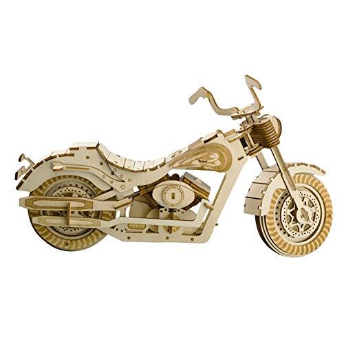 CYX-assembly 3D Wooden Puzzle Toy Kit, Thunder Halle Motorrad Dreidimensionalmodell-handgefertigte Geschenke-Sichere und umweltfreundliche Holzmodell-Kit