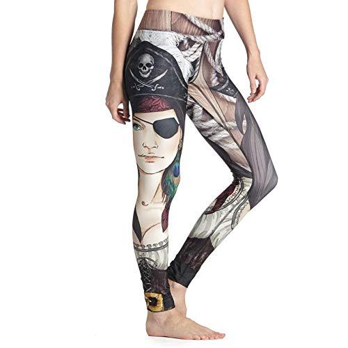 Leggings Polainas De Fitness De Impresión Digital 3D Mujeres Poliéster hasta El Tobillo Leggins De Fitness Pantalones Push Up Mantenga Slim
