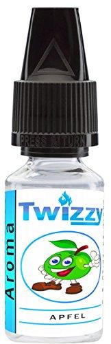 10ml Twizzy® Apfel Aroma | Aroma für Shakes, Backen, Cocktails, Eis | Aroma für Dampf Liquid und E-Shishas | Flav Drops | Ohne Nikotin 0,0mg