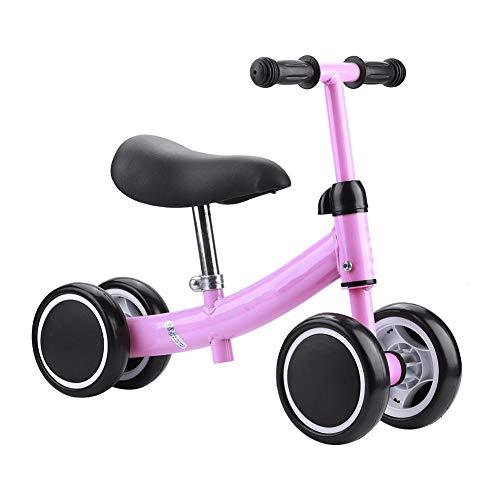 SUYANG Mini Scooter, Scooter De Equilibrio, Entrenamiento De Equilibrio Mini Bicicleta Scooter Walker Scooters para 1-2 Años De Edad Bebé (Rosa)