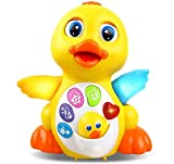 RACPNEL Baby Toys Musical Dancing Toys Duck with Lights & Sounds, Early Learning and Development Educational Toys for Toddlers Infants Boys and Girls