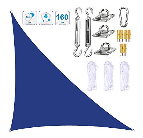 Y DWAYNE Parasol de Vela Solar,3x3x4,3 m Parasol de Vela con Kit de fijación,3 Cuerdas,Impermeable,98% UV,toldo de Vela de jardín para Patio al Aire Libre,bañera de hidromasaje