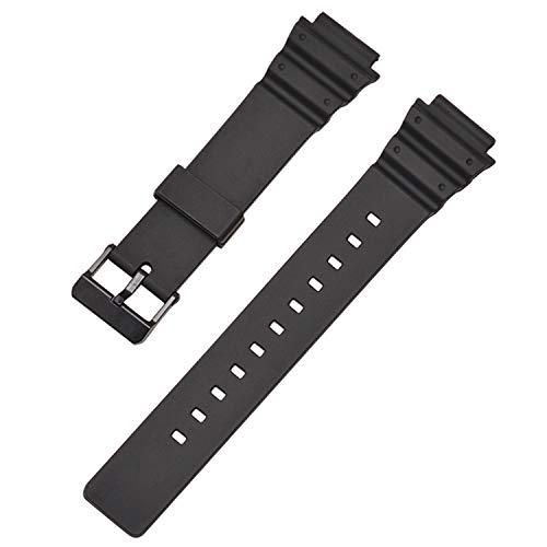 Vococal Cinturino per Cinturino Regolabile in Resina Impermeabile Traspirante Regolabile Compatibile con Accessori per Orologi Casio MRW-200H 18mm-Nero