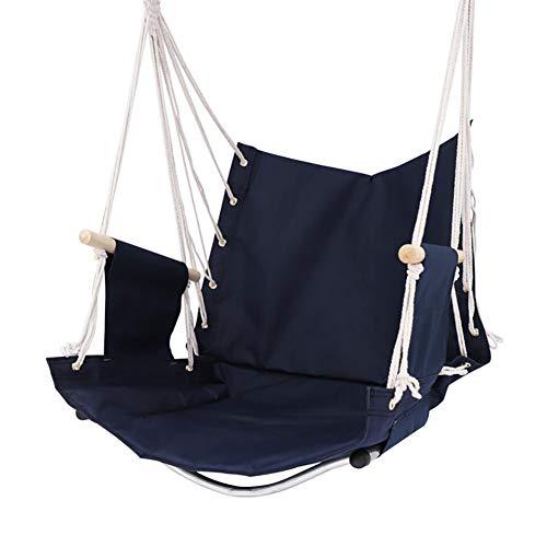 Balançoires YXX Chaise avec hamac Fait Main avec 2 Crochets, siège de pour Corde Suspendue pour terrasse Patio Jardin Lecture Loisir (Size : Set of 1)