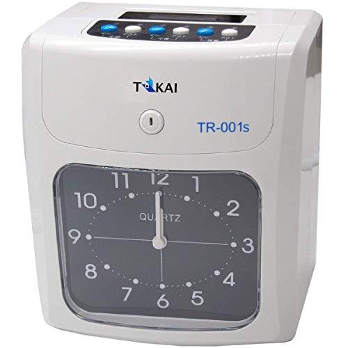 新品タイムレコーダータイムカードレコーダー本体TR-001s6欄印字可能両面印字モデルタイムカード50枚付き一年保証