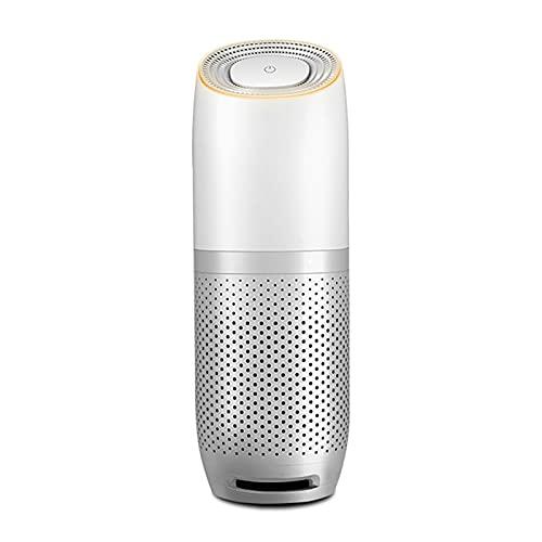LYB Purificatore d'Aria Veicolo Portable Smart Sensor Sensor Sensor Bar per Uso Interno per Uso Interno Ed Esterno (Color : Silver White)
