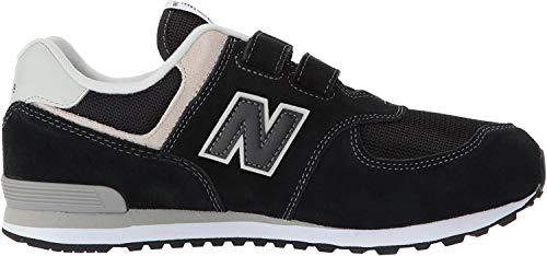 New Balance 574v2 Core Velcro, Sneaker Unisex-Bambini, Nero (Black/Grey Black/Grey), 32 EU