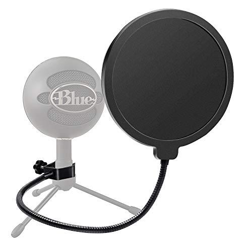 Haquno Mikrofon Popschutz Mic Windschutz Schaum Windschutzscheibe Pop Filter für Blue Yeti, MXL, Audio Technica und andere Mikrofone