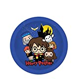 Silver Buffalo Harry Potter Chibi Party Tableware Set, 60-Piece, Blue, 60 Piece
