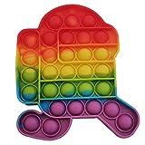 POP IT Among Us   Juguete antiestrés para niños   Explotar Burbujas y Aliviar el Estrés  Destinado a niños y adultos Regalo Sensorial Divertido y Original   Fidget Toy Push Popi