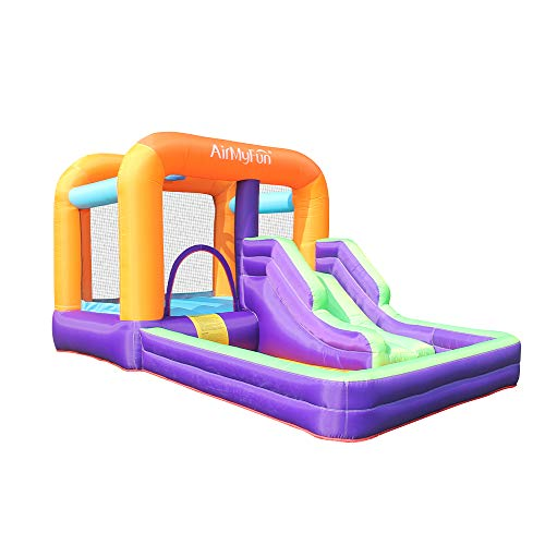 AirMyFun Bounce House,Bouncer Slide with Large Ball Pool,Jumper Bouncing Slide House,Bouncy Castle House with Air Blower for Outdoor Entertainment