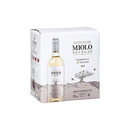 Vinho Branco Seco Chardonnay/Viognier Seleção Miolo Bag In Box 3L