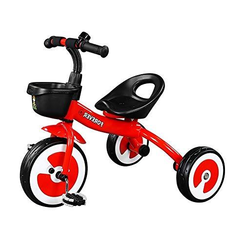 WENJIE Bicicleta Infantil Triciclo Bicicleta for Bebés De 1-3-6 Años Cochecito De Niño Asiento De Carro Juguetes De Niño Y Niña Regalo De Los Niños (Color : Red)