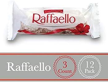 3-Count Pack Of 12 Ferrero Raffaello Almond Coconut Candy