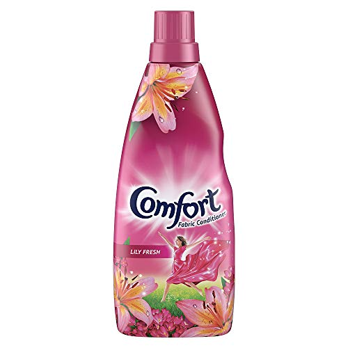 Comfort After Wash Fabric Conditioner Lily Fresh variant for all day freshness and lasting fragrance, 860 ml