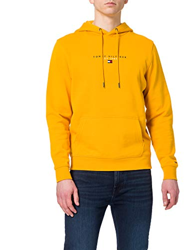Tommy Hilfiger Essential Tommy Hoody Sudadera con Capucha, Courtside Amarillo, M para Hombre