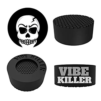 Washer Anti-Vibration and Anti-Walk Washer and Dryer Feet   8% Bigger Than The Leading Competition   Shock Absorbing Pads with Unique Textured Base (Pack of 4 Rubber Feet) By VIBE KILLER