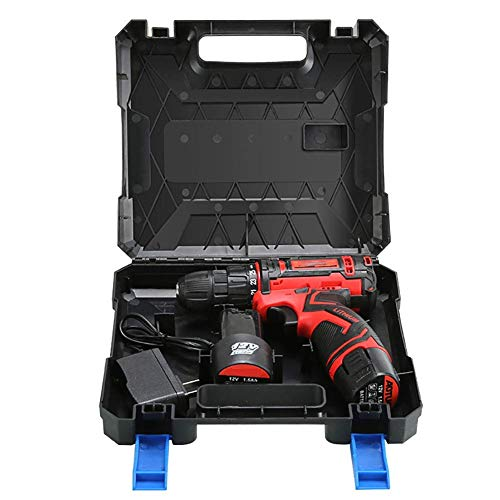 UWY 12V Cordless Drills with 2 Lithium-Ion Batteries 1.5Ah Screwdriver Max Torque 25 Nm,10mm Chuck,Variable Speed,25 + 1 Torque Setting with LED,