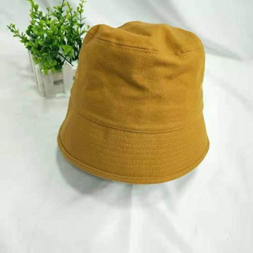 Retro Eimer Kappe weibliche Glocke geformte Wild Pot Kappe dünne Sonnencreme Schatten Fischer Faltkappe gelb M (56-58cm)