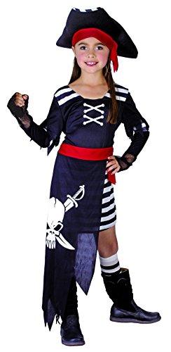 Rire Et Confetti - Fibpir016 - Déguisement pour Enfant - Costume Pirate Tête De Mort - Fille - Taille M