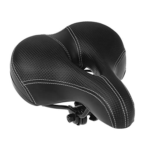 BESPORTBLE Bicycle Seat Comfort Bike Saddle for Women or Men, Universal Soft Wide Bike Seat with Waterproof Cover