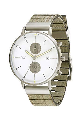 WEWOOD Unisex Analog Japanischer Quarz Uhr mit Holz Armband WW63006