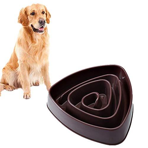 Langsam Feeder Hundenapf rosa langsam Feeding Hundenapf Welpenfutter Nass Bowl Interactive Hundefuttertröge Cat Feeder Bowl Non Skid Bowl Maze Interactive Cat Bowl plm46 (Color : Brown)