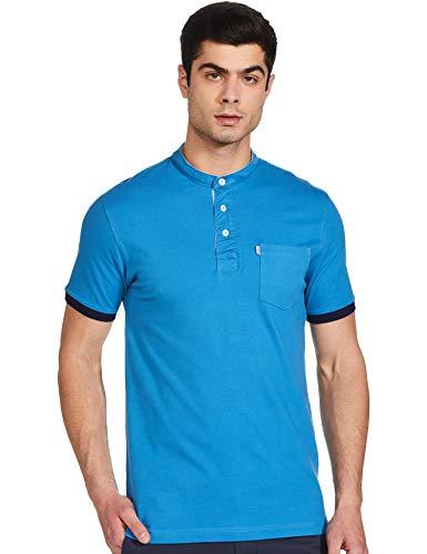 Amazon Brand - Inkast Denim Co. Men's Solid Regular fit Polo (INPK-20_Digitial Teal S)