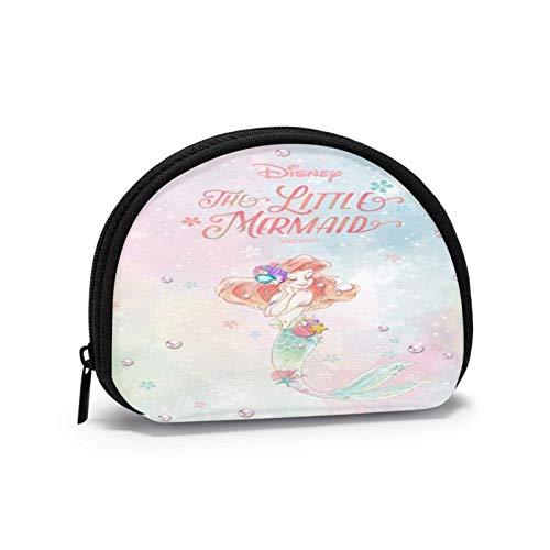 Cute Small Cash Coin Purse, Clutch Bag Zipper Change Purses, ShellShaped Wallet Cash Pouch Storage Bags, Gifts for Women/Kids, Ariel Little Mermaid Pearl Shell