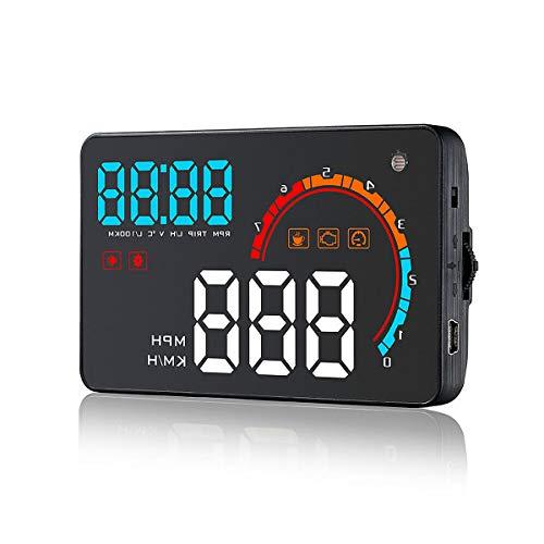 YALIXING Estéreo de Coches D2000 4 Pulgadas Universal HUD HUD Head Up Pantalla OBD2 OBDII Meter Speed Advertencia Proporcionarle una Experiencia de conducción más cómoda