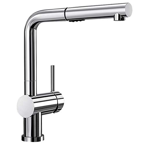 BLANCO Polished Chrome 441403 LINUS Pull-Out Dual Spray Kitchen Faucet, 2.2 GPM