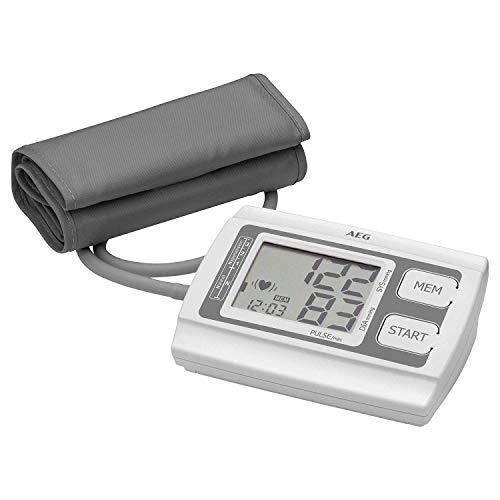 AEG BMG 5611 Blutdruckmessgerät für den Oberarm, vollautomatische Blutdruck- und Pulsmessung, 3-Werte-Anzeige (Systole / Diastole / Puls), LCD-Display, Bewertungssystem der WHO, einfache Handhabung