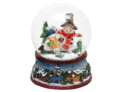 Bellisima palla di vetro con neve, circa 8,8 x 7 cm/ Ø 6,5 cm