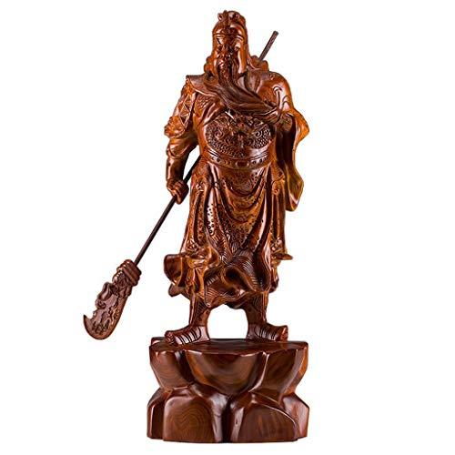 zlw-shop Estatua de Buda Feng Shui Guan Gong Decoración Guan Gong Wu Estatua de Buda CAI Shenye Estatua decoración Artesanal de Regalo Sala de Estar la decoración del hogar Estatua de Buda Meditación
