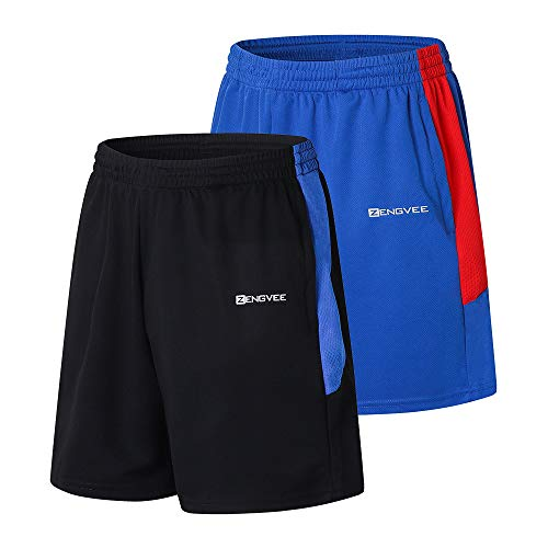 1994Fashion Mens Summer Shorts Athletic 7 Inch Inseam Shorts Men with Pockets Big and Tall XL