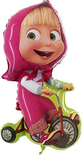 Folienballon Masha mit Fahrrad - ungefüllt