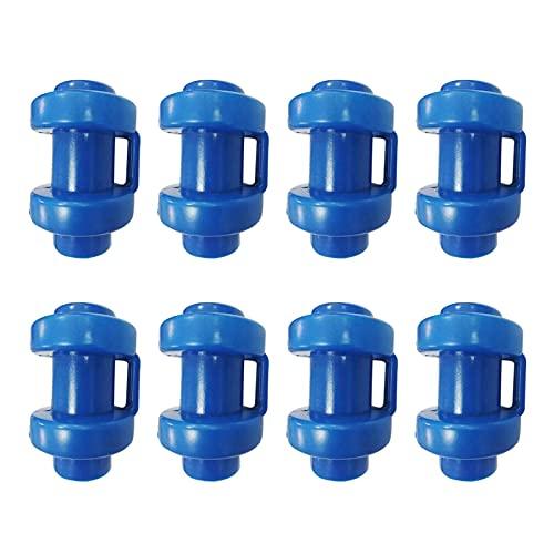 Grust 8 piezas de tapones para trampolín de trampolín, duraderos, cubierta gruesa para trampolín con ganchos de red (azul), diámetro de 25 mm