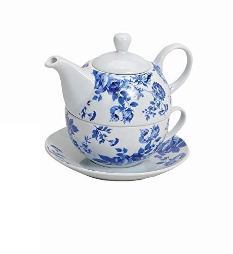 Wurm Tea for One Teekannen-Set mit blauen Blume