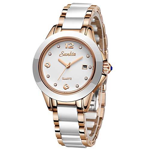 LIGE Damen Uhren Mode wasserdichte Quarz Armbanduhr für Damen Edelstahl Armbanduhr für Mädchen