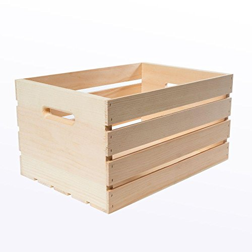 18' x 12.5' x 9.5' Large Unfinished Pine Wood Crate (3-Pack)