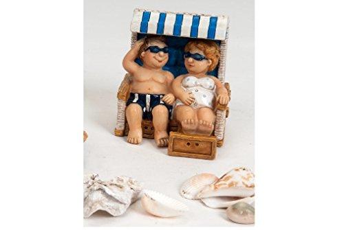 Touristen Pärchen im Strandkorb, 8 cm