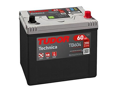 Batería para coche Tudor Exide Technica 60Ah, 12V. Dimensiones: 230 x 173 x 222. Borne derecha.