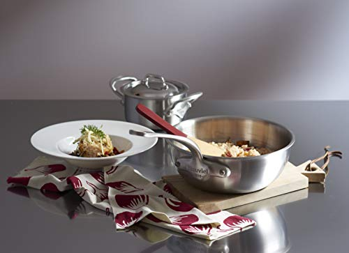 Mauviel Tri-Ply M'Urban 8 Piece Set Cast SS Handle pots, Brushed Stainless Steel