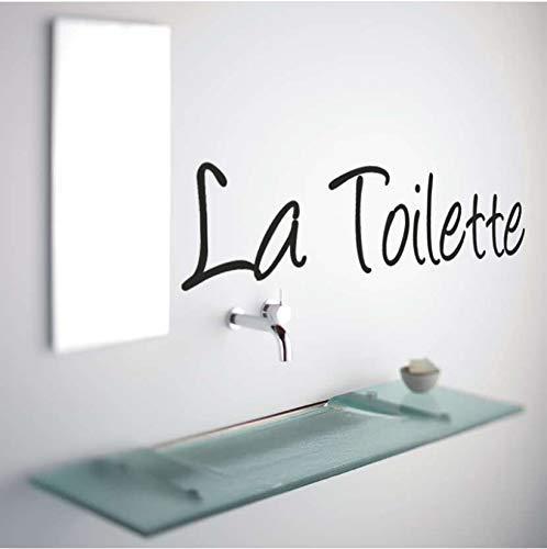 Moderne Französisch Toilette Worte Spiegel Wandaufkleber Bad Ensuite Waschraum Wc Zeichen Wandtattoo Vinyl Wohnkultur 56X11 Cm
