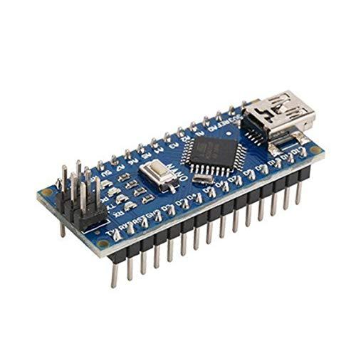 nbvmngjhjlkjlUK Nano ATMEGA328P Mini USB Mit dem für Arduino Nano V3.0 Controller kompatiblen Bootloader CH340 USB Treiber 16Mhz (Blau)