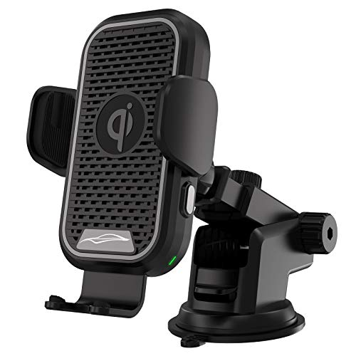 Wireless Car Charger 15w Qi Fast Charging Auto-Clamping Windshield Air Vent Mount Mobile Phone Holder Compatible with iPhone,Samsung Galaxy,LG,Google Pixel