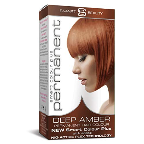Smart Beauty Permanent Haarfärbemittel, Salon Qualität Haarfarbe mit Smart Plex Haarbehandlung - Bernstein, 150 Milliliter