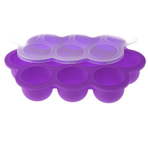 MagiDeal Gefrierbehälter zum Einfrieren und Aufbewahrung von Babynahrung als Behälter für Babybrei/Babykost-BPA-frei & FDA zugelassen - Lila, one Size